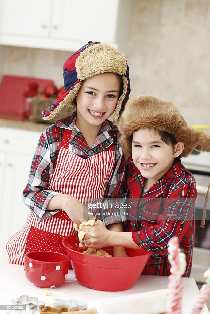 Kids cooking classes : Stock Photo