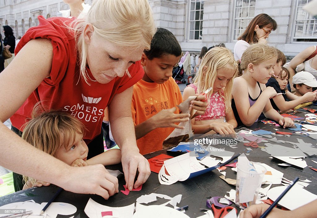 A Kids Craft Workshop In The Courtyard Of Somerset House During Free