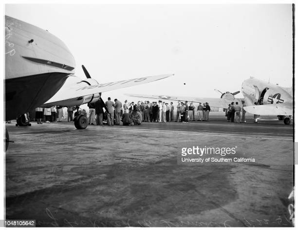 Kids Day Flight to Williams Field 22 September 1951 Allied Cadet Captain Fritz Schmidt Sergeant Michel Fave Sergeant Desire Lorent Allied Cadet Jan...