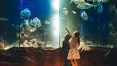 Kids discovering underwater world