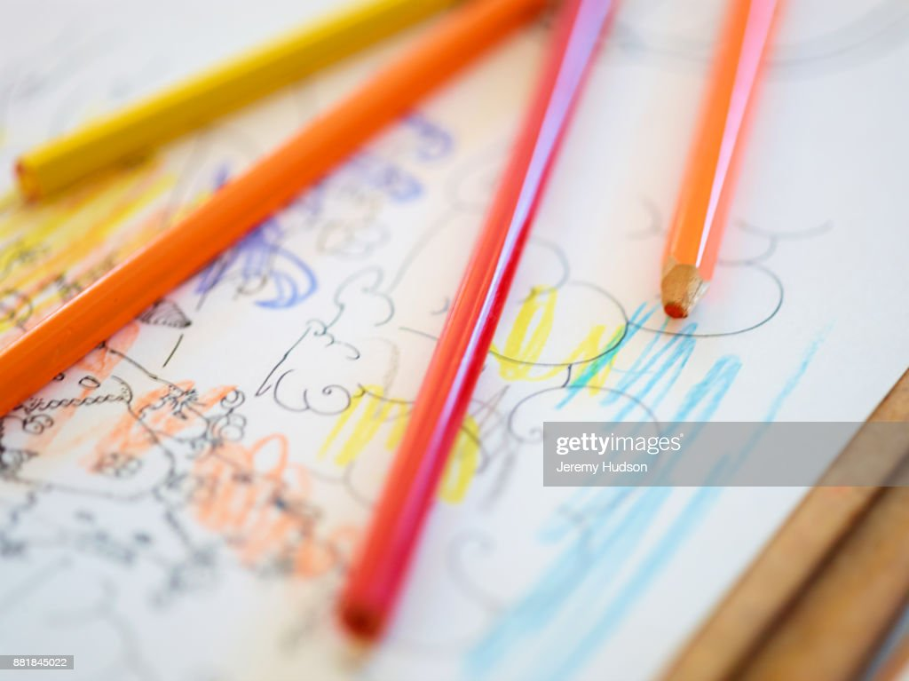 Kids Drawing : Foto de stock