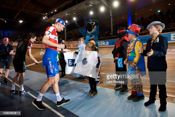 Kids dressed for danish tradition Fastelavn and Team no 9 Marc Hester of Denmark and Team no 7 Michael Morkov of Denmark during day four of the...
