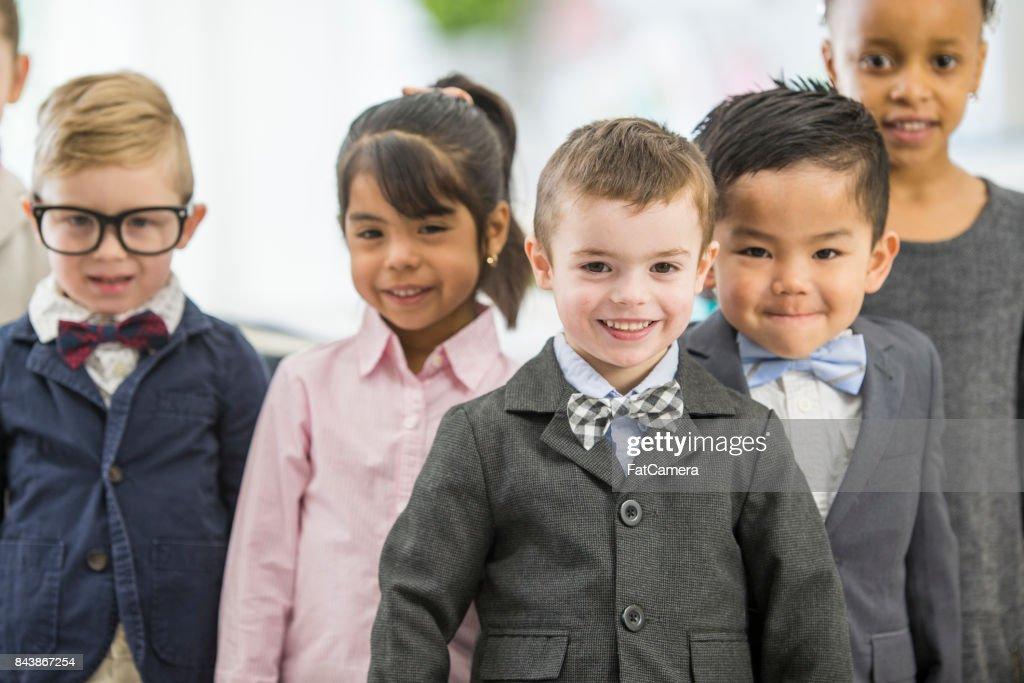 Kids Dressing Up : Stock Photo
