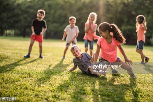 Kids enjoying in nature