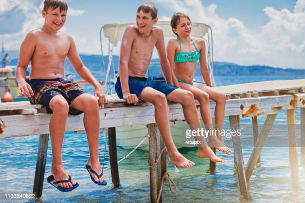ATRXZ Teen Boys Lazarbeam Logo Beach Pants Summer Swimming Trunks Swimwear for Teens