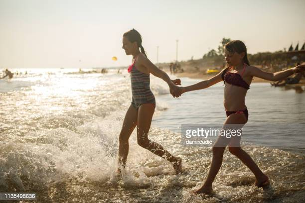 kids enjoying summer vacation - damircudic stock photos and pictures