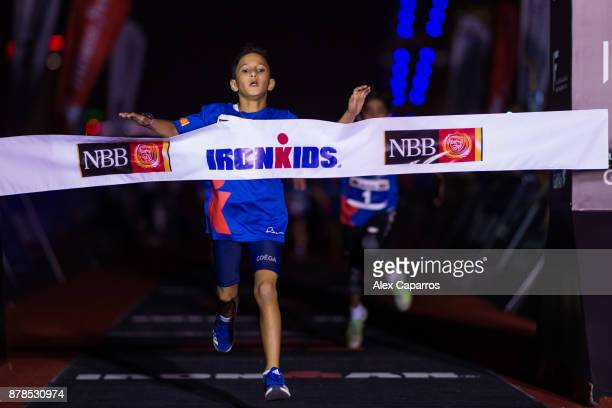 Kids finish Ironkids race ahead of IRONMAN 703 Middle East Championship Bahrain on November 24 2017 in Bahrain Bahrain