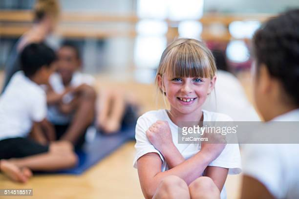 kids fitness - fat belly girl stock photos and pictures