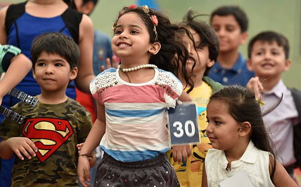 Kids Participate In Auditions For India Kids Fashion Week In Mumbai