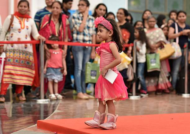 Kids Participate In Auditions For India Kids Fashion Week In
