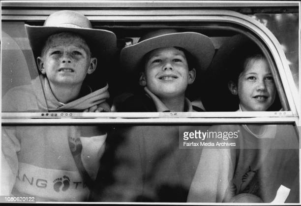 Kids from Trangie come to Sydney for a visit some for the first time are seeing the cityWayne Piper aged 9 Ben Smith aged 11 and sister Anna Smith...