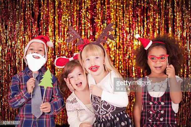 お子様には、楽しいクリスマス - 小道具 ストックフォトと画像