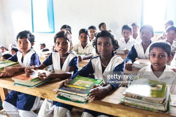Kids having a lesson at Harincheara primary school,Chondro tribe, Sreemangal , Division of Sylhet, Bangladesh, Indian Sub-Continent, Asia