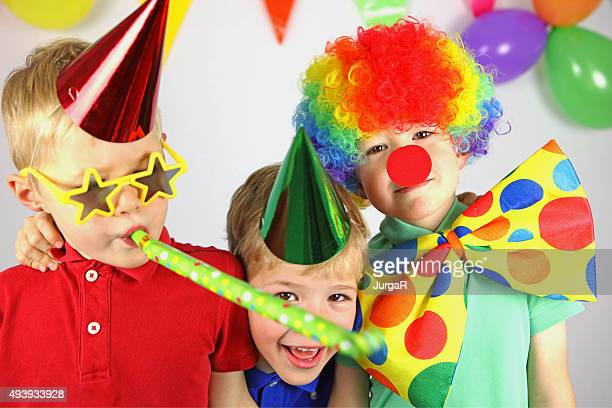 Kids Having Fun Celebrating Birthday Party