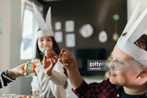 Kids having fun for Easter