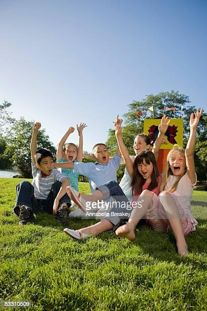 Kids having fun in a park