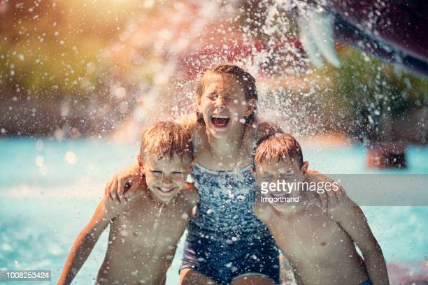Kids having fun in waterpark