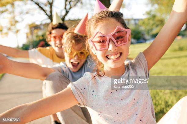 kids having fun - pre adolescent child stock pictures, royalty-free photos & images