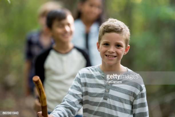 ハイキング子供