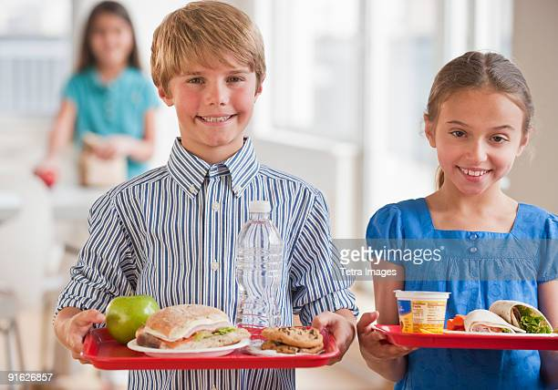 Kids in a cafeteria
