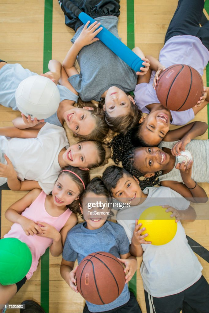 Kids In Gym : Stock Photo