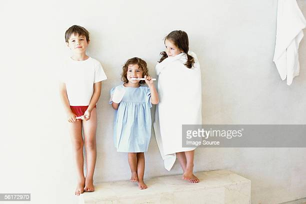 Kids in the bathroom