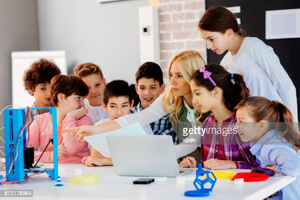 Kids Learning 3D Printing In School