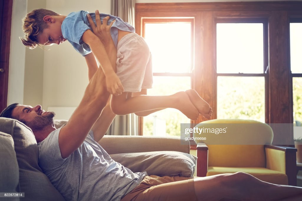 Kids make life the best kind of busy : Stock Photo