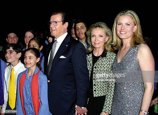 Kids of UNICEF, Roger Moore with wife Christina Kiki Tholstrup, and supermodel Vendela