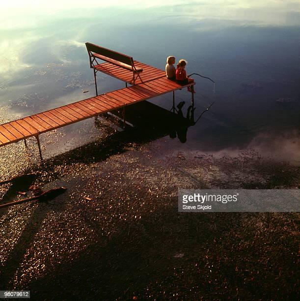 Kids on the dock