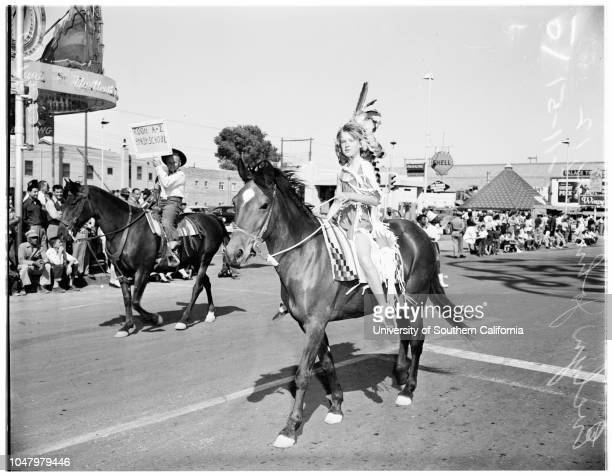 Kid's parade Helldorado Days Las Vegas May 11 1951 Evelyn Johnson 12 yearsDonald Varney 5 yearsJack Yeager 9 yearsMary Jane Yeager 3 years More...