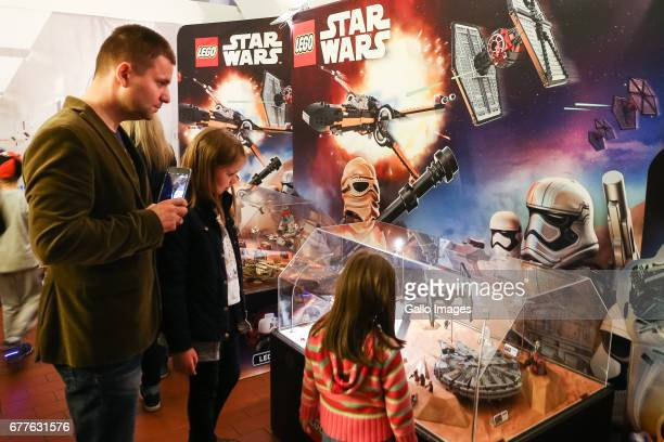 Kids participate in the STAR WARS Day on May 01 2017 at Nowy Fort in Warsaw Poland The event for famous science fiction movie series enthusiasts was...