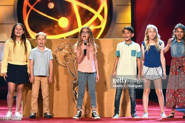 Kids perform onstage at the 46th annual Daytime Emmy Awards at Pasadena Civic Center on May 05 2019 in Pasadena California