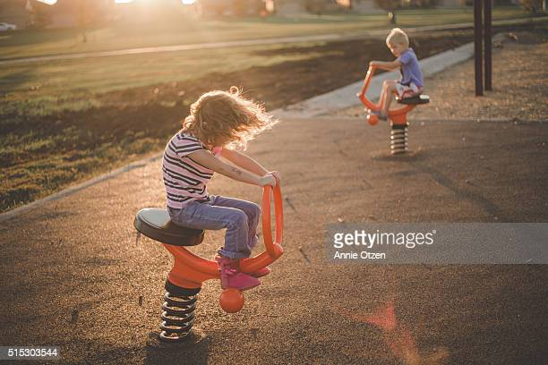 Kids Playing at a Playground