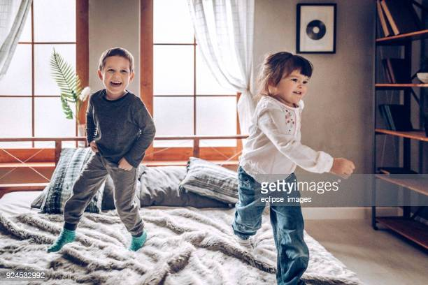 Kids playing at home, alone
