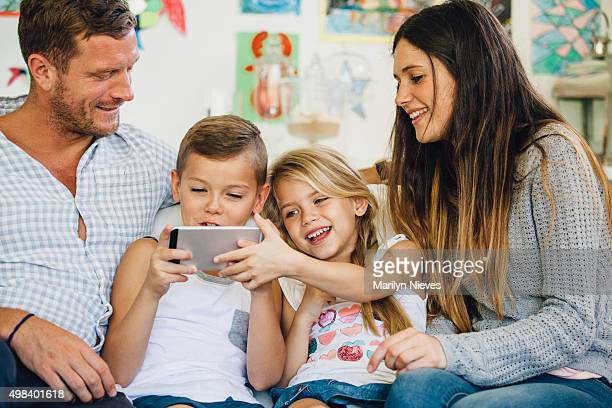 kids playing games with parents