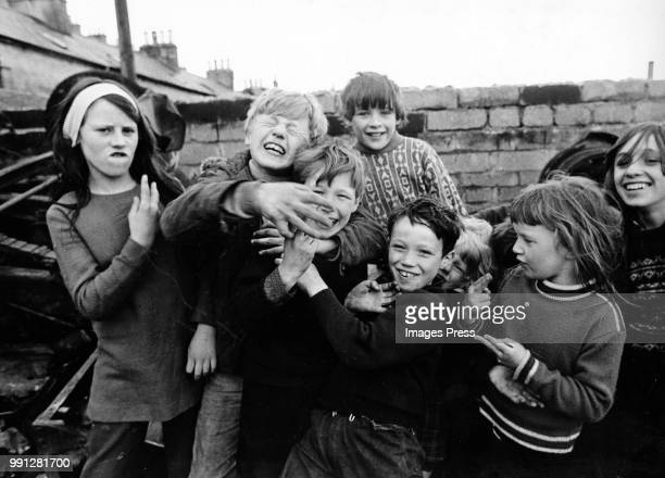 Kids playing in Londonderry, Northern Ireland.