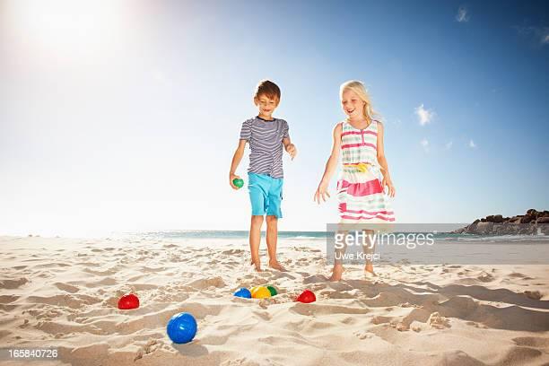 Kids playing on beach
