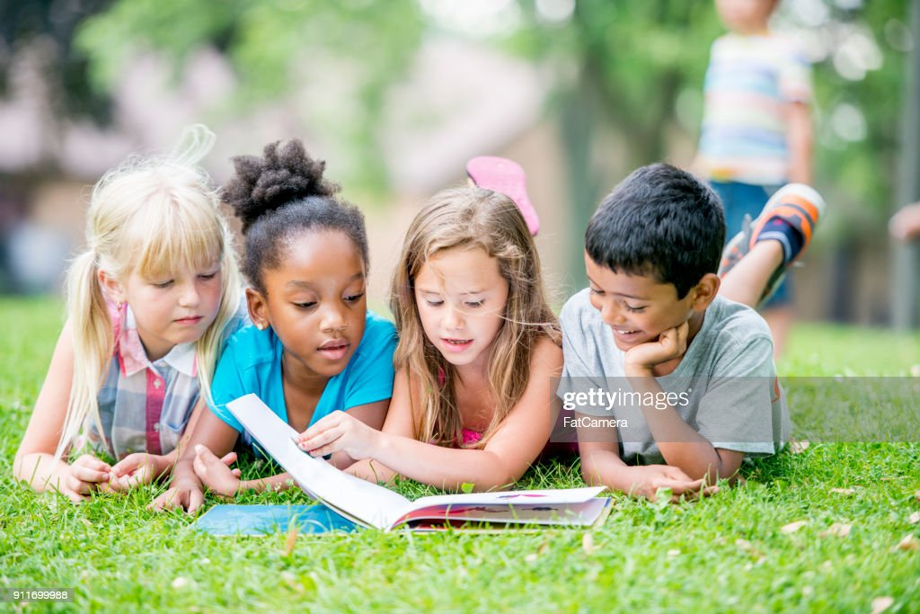 Kids Reading : Stock Photo