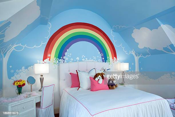 kids room at angle. - childhood stock pictures, royalty-free photos & images