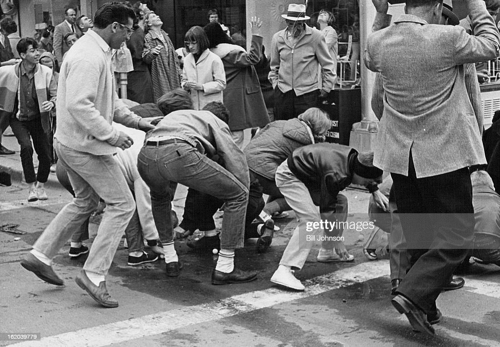 MAY 15 1965 16 Kids Scramble For Table Tennis Balls Dropped Form