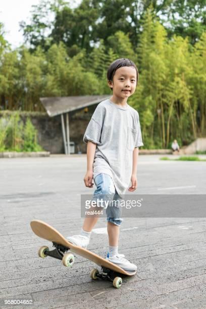 Kinderen skateboard