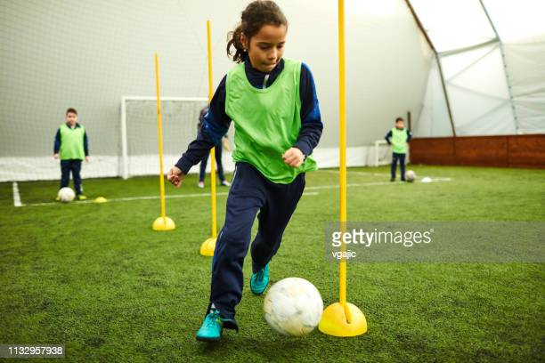 kids soccer - sporting term stock-fotos und bilder