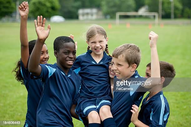 Niños de fútbol