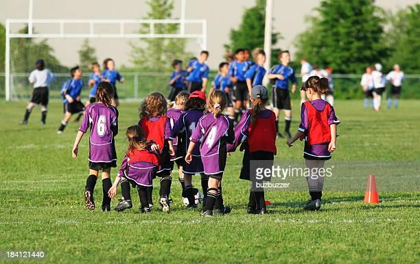 Equipo de fútbol de niños