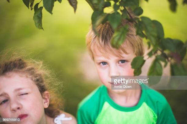 Kids standing outside