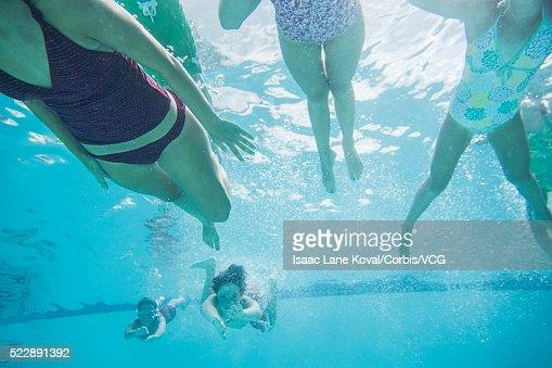 kids swimming underwater stock photo getty images - Kids Swimming Underwater