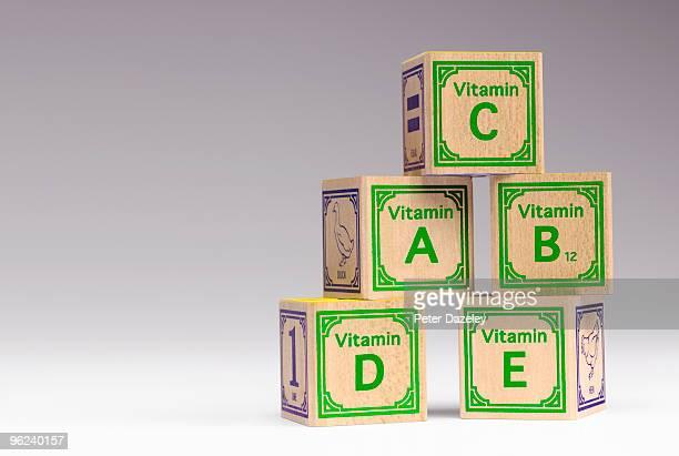 Kids vitamin building blocks.