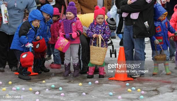 Kids waited for the start of the 15th annual Community Easter Egg Hunt sponsored by Our Savior Lutheran Church where more than 500 Kids from around...