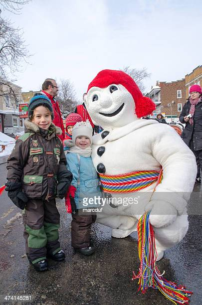Kids with Bonhomme Carnaval